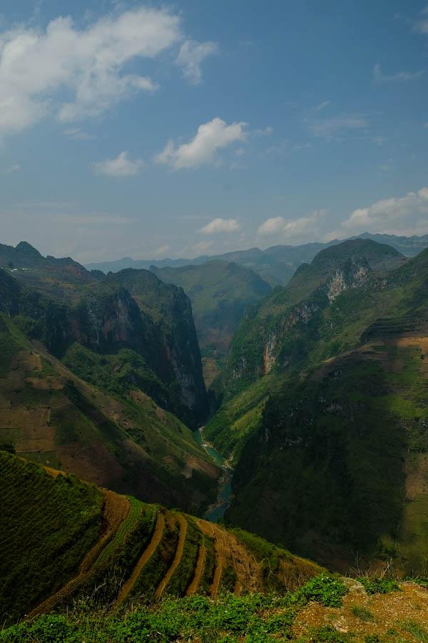 Paysage de la boucle d'Ha Giang, VIetnam.