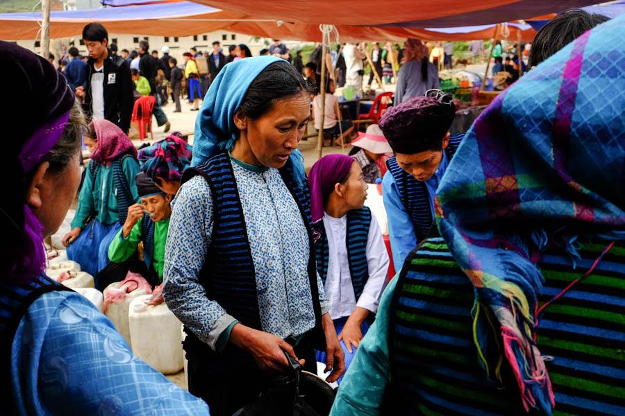 Sur le marché de Dong Van, dans le nord du Vietnam.