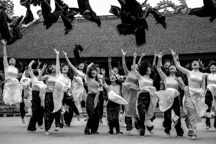 Cérémonie de remise des diplômes à Hanoï, Vietnam.