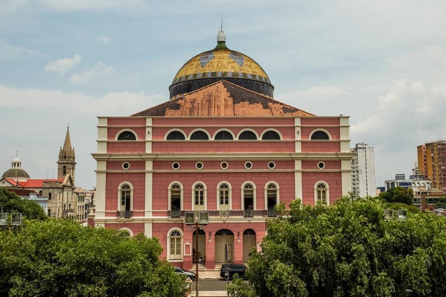 Le théâtre Amazonas à Manaus au Brésil.