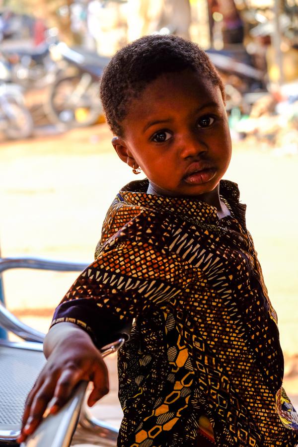 Portrait d'Imane à Banfora au Burkina Faso.