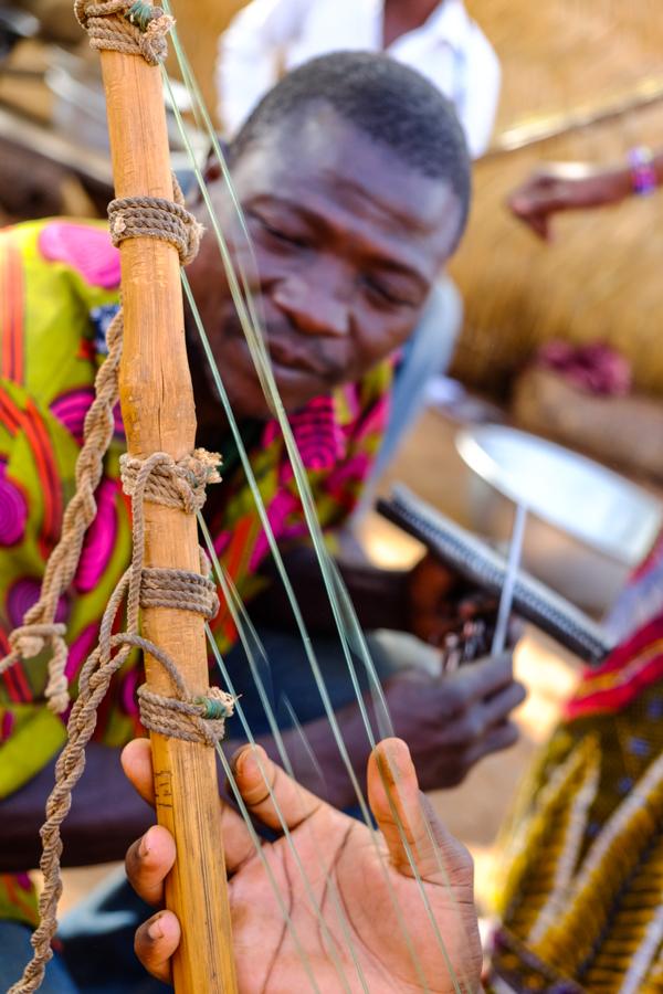 Instrument de musique traditionnelle au Burkina Faso.