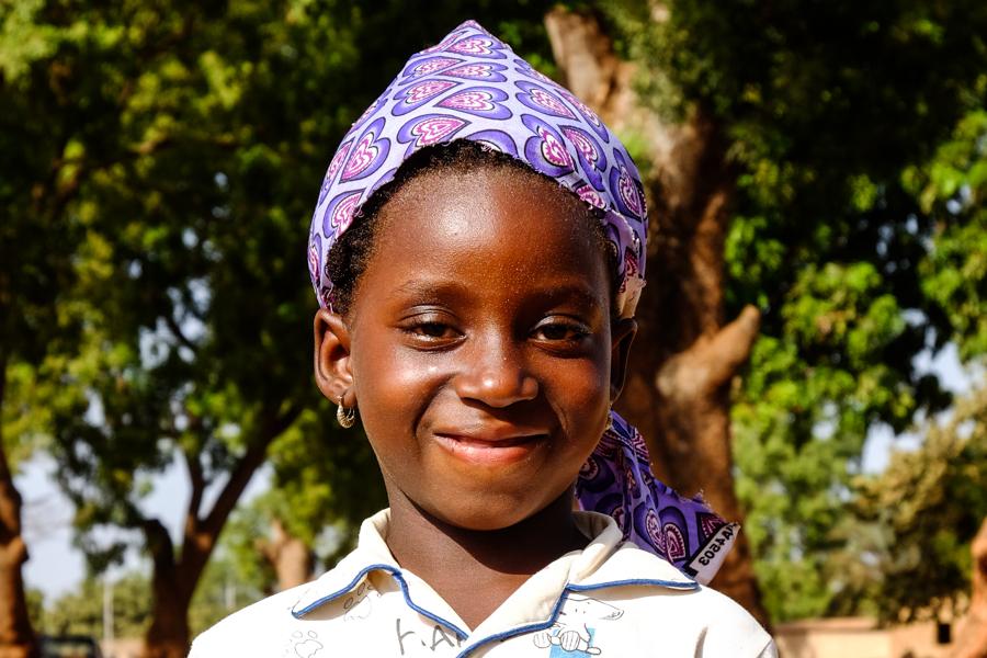 Portrait d'enfant à Banfora, au Burkina Faso.