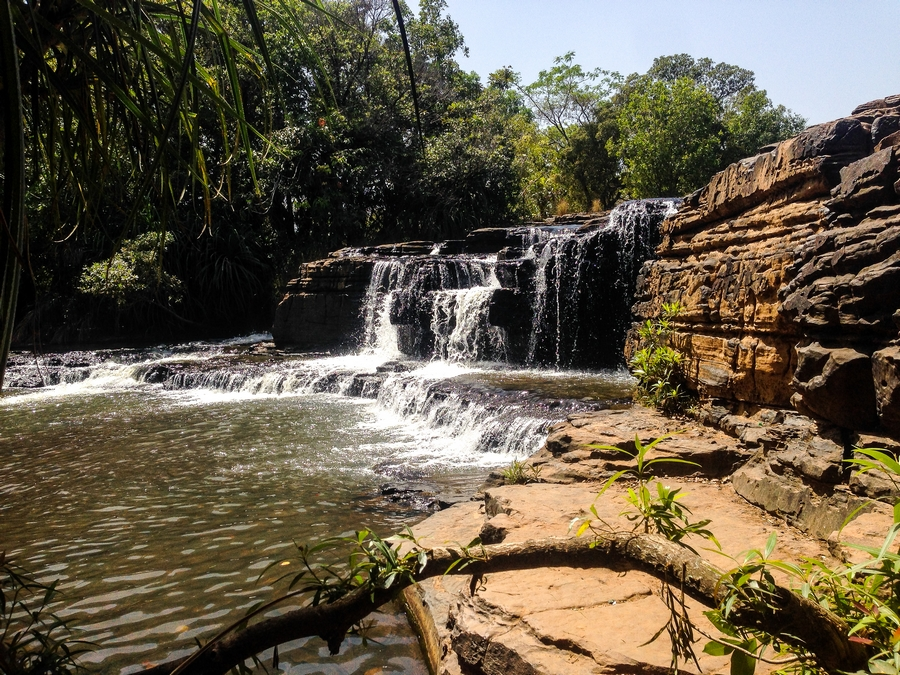 Les belles cascades de Karfiguéla près de Banfora au Burkina Faso.