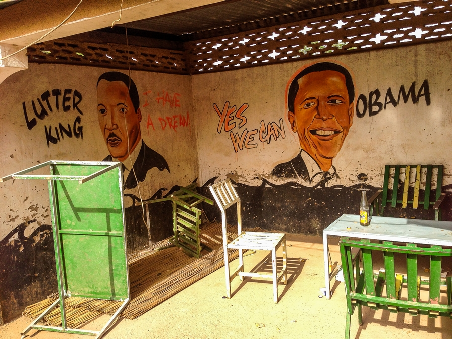 Maquis politique à Loropeni, Burkina Faso.
