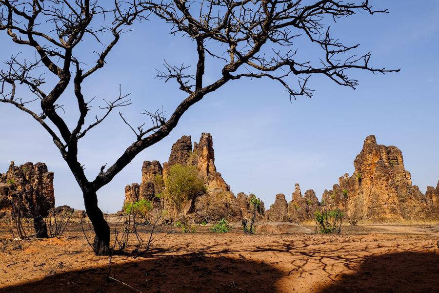 Les mystérieux pics de Sindou près de Banfora au Burkina Faso.