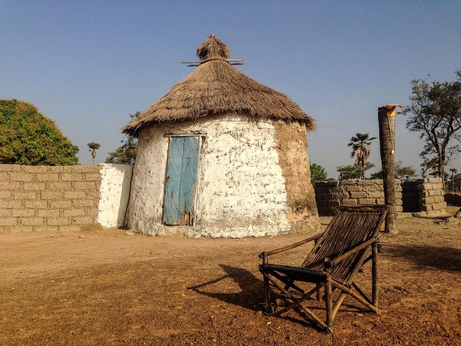 Case du campement le Rencard à Tengrela, Burkina Faso.