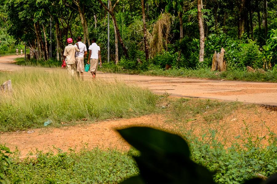 Sur le chemin de l'école à Kpalime, au Togo.