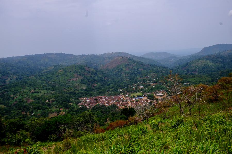 Dernier village avant le Ghana à Kpalime, au Togo.