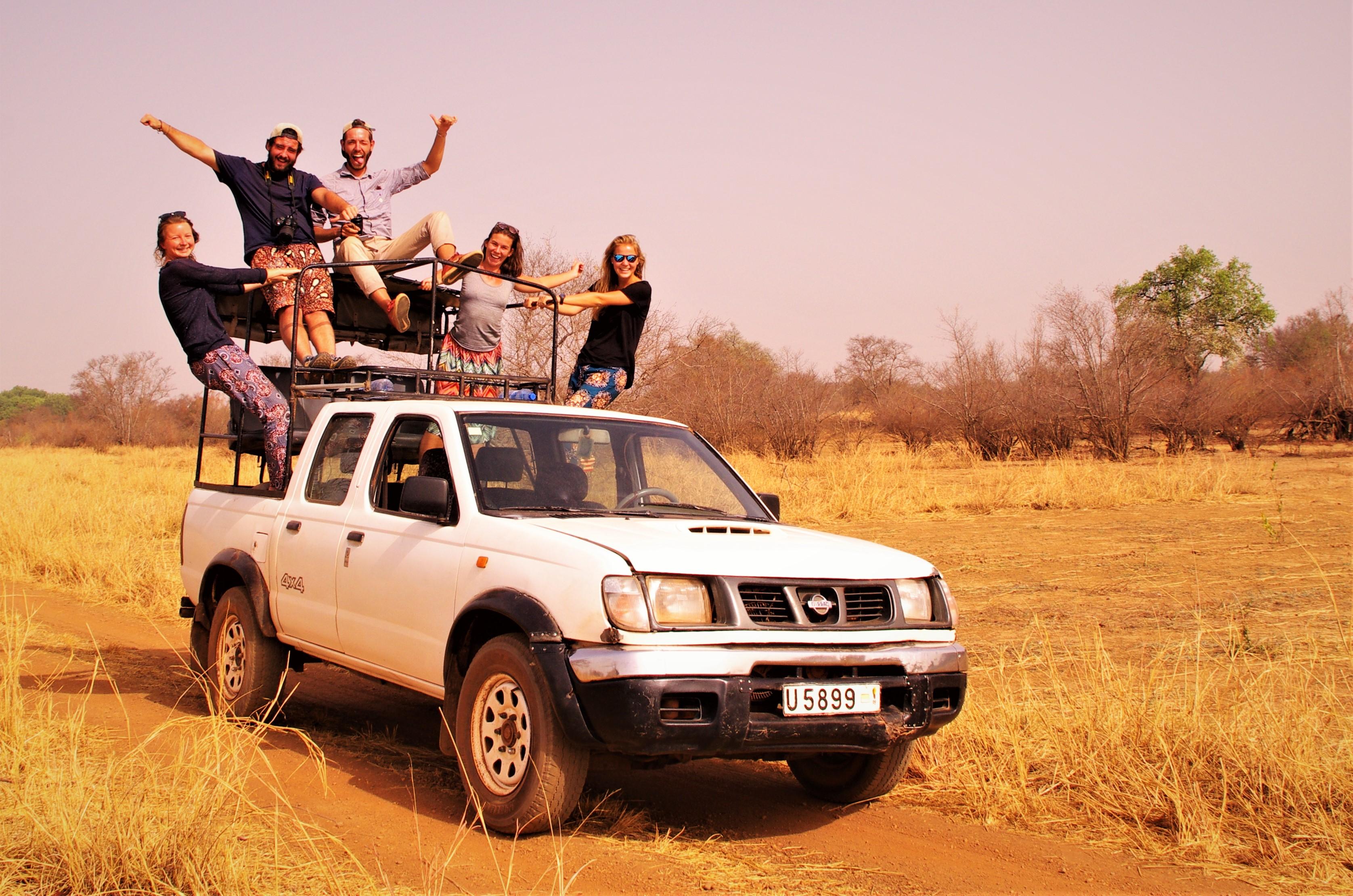 Notre jeep pour visiter le parc de la Pendjari au Bénin.