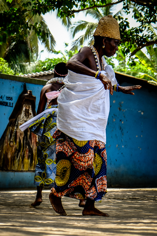 Cérémonie vaudou à Grand Popo au Bénin.