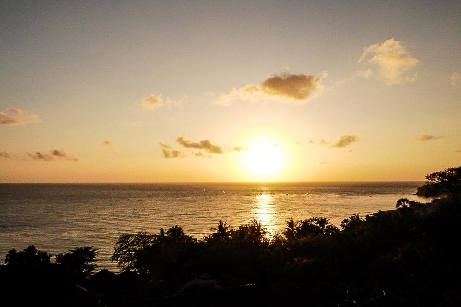 Coucher de soleil à Amed, Bali.