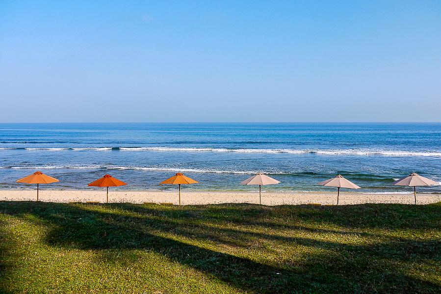 Parasols de plage à Bali.