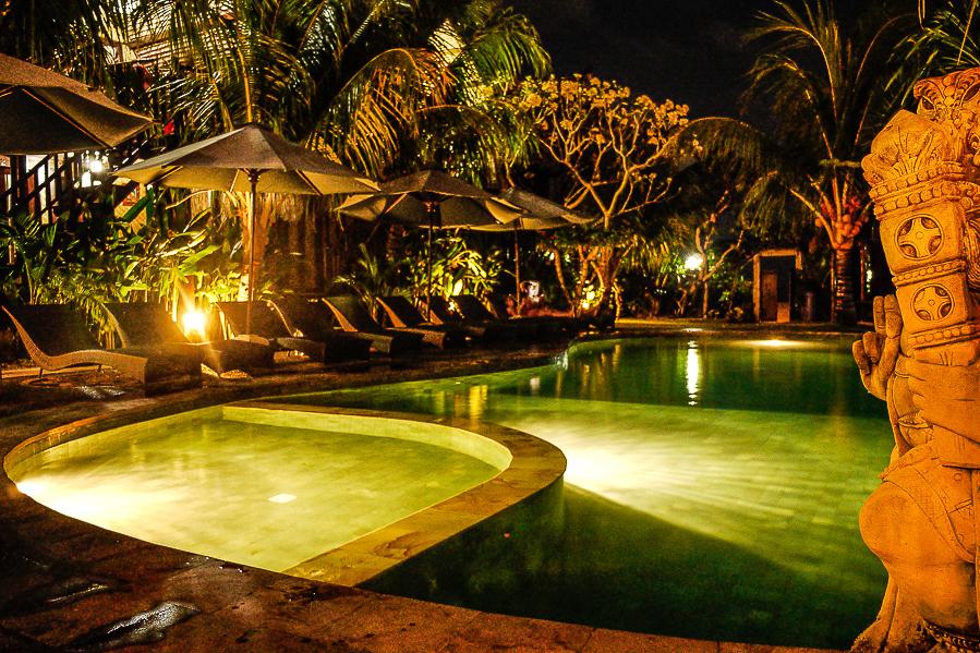 Piscine à Bali, Indonésie.