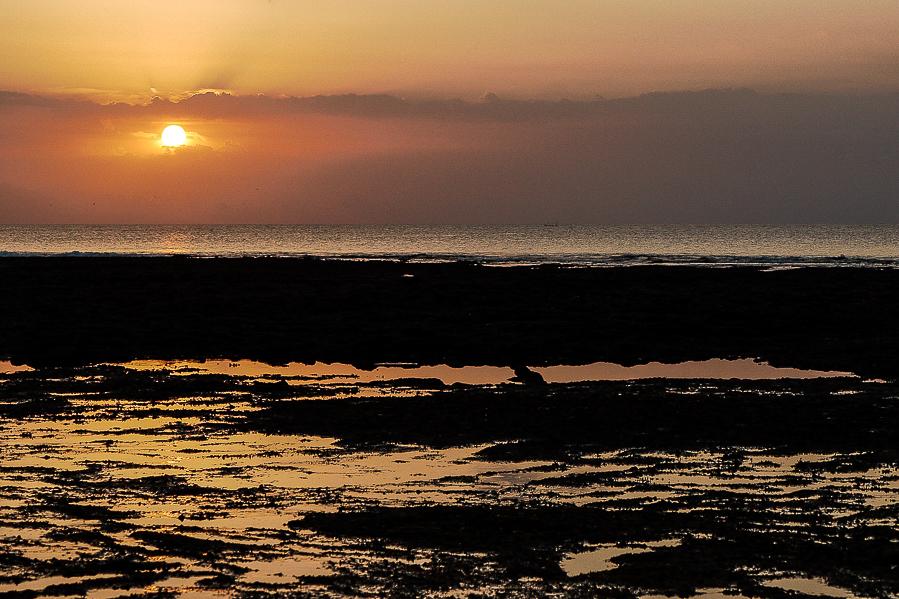 Coucher de soleil à Bali, Indonésie.