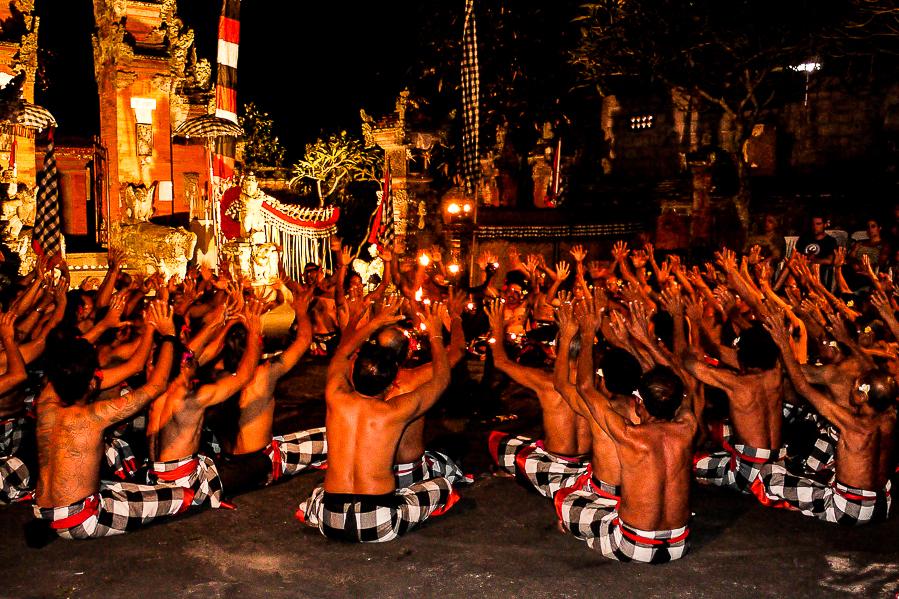 Danse traditionnelle balinaise à Bali.