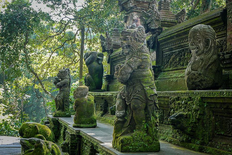 Temple de la Monkey Forest à Ubud, Bali.