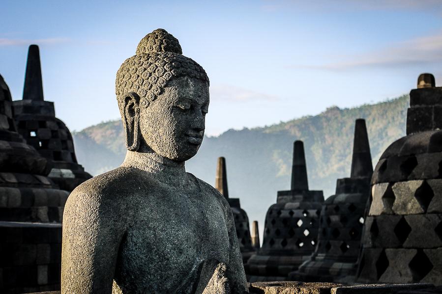 Temple de Borobudur, Indonésie.