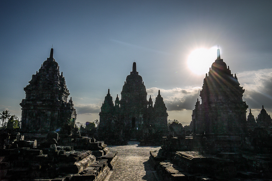 Temple de Prambanan, Indonésie.