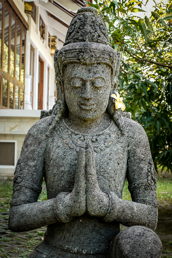 Statue hindoue à Java, Indonésie.