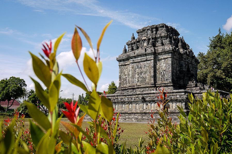 Temple à Java, Indonésie.