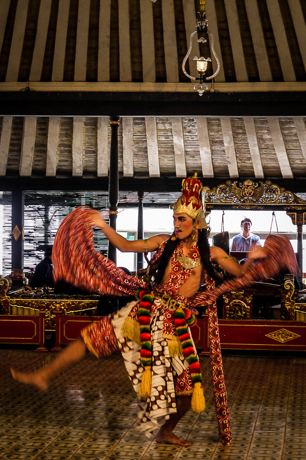 Danseur balinais à Yogyakarta, Indonésie.
