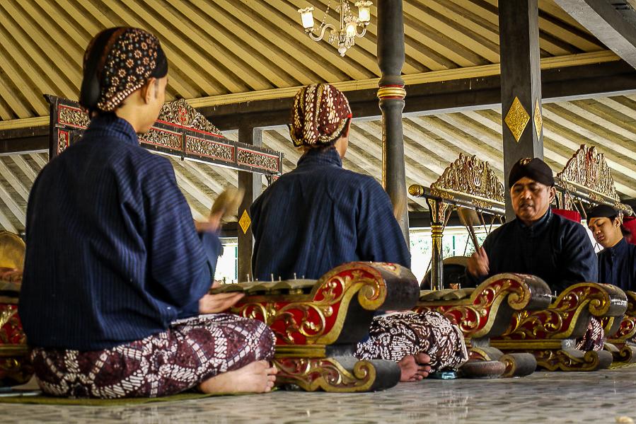 Musique traditionnelle à Yogyakarta, Indonésie.