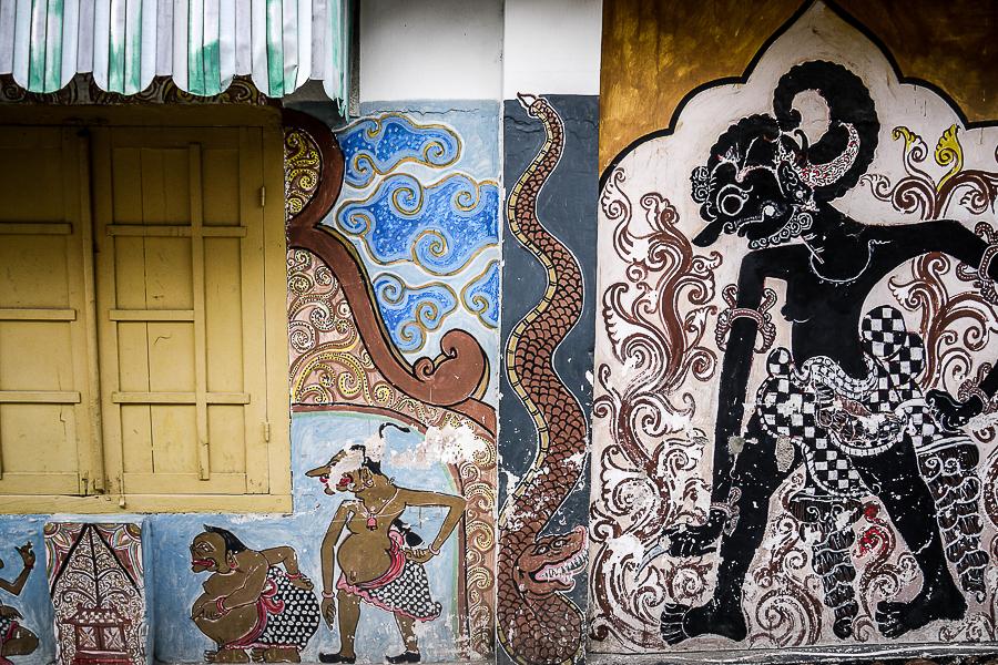 Street art à Yogyakarta, Indonésie.
