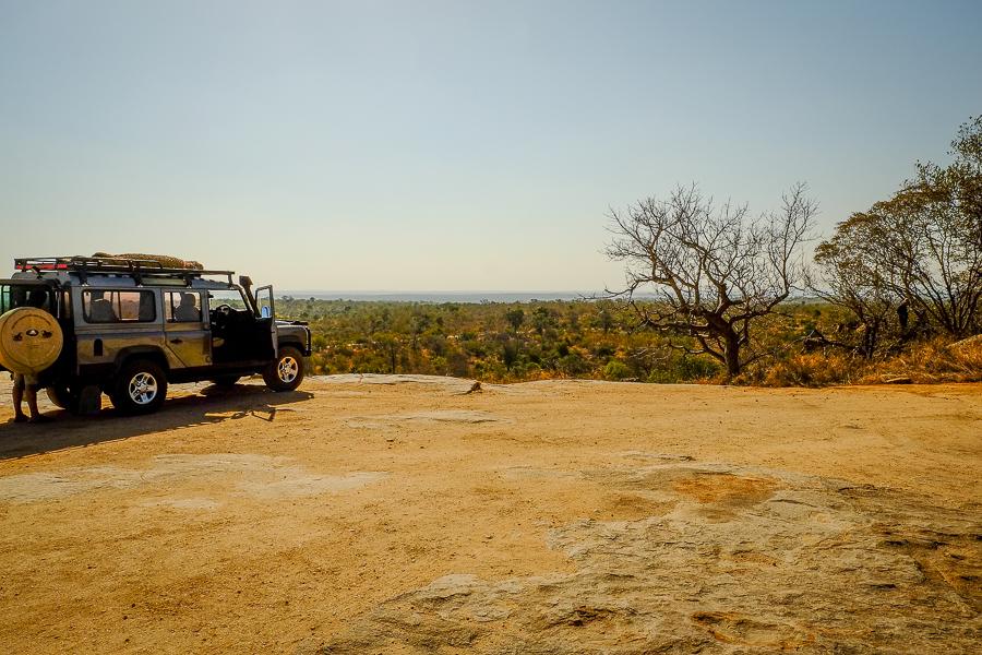 4x4 au parc Kruger, Afrique du Sud.