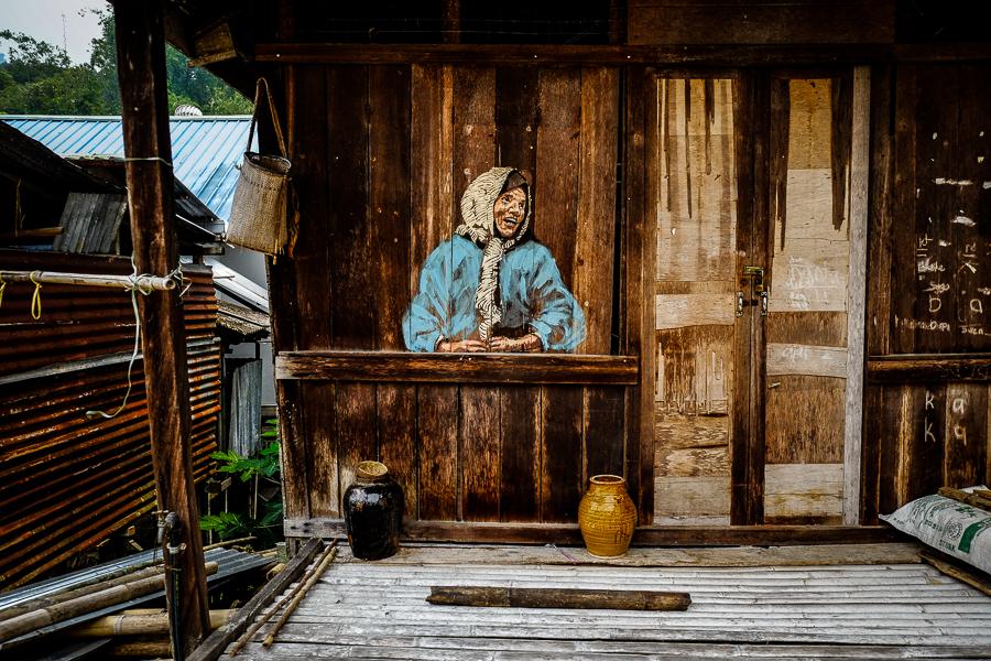 Street art à Bornéo, Malaisie.
