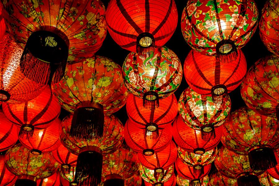 Lanternes chinoises à Kuala Lumpur, Malaisie.