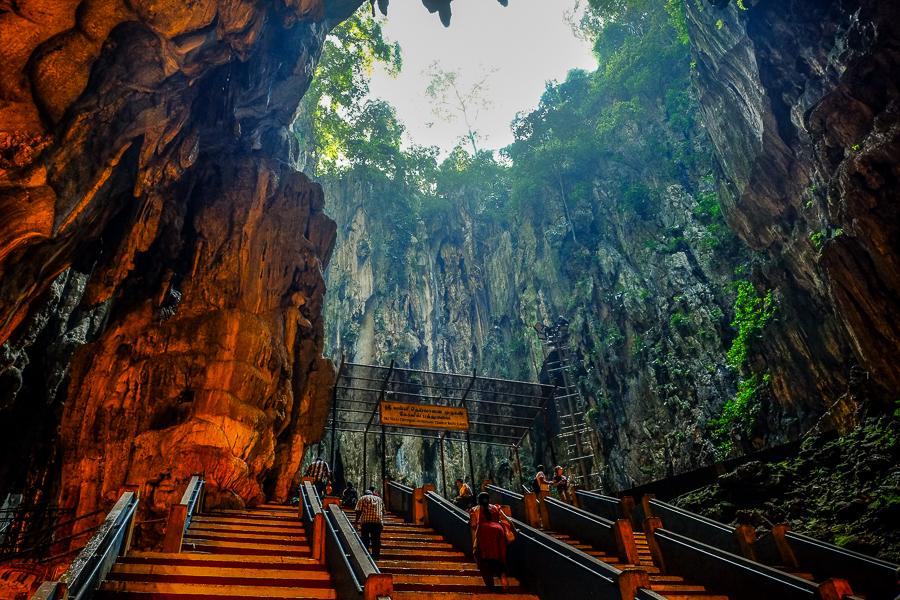 Batu cave, à Kuala Lumpur, Malaisie.