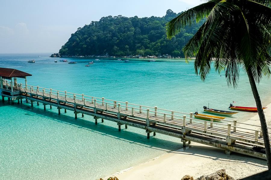 Lagon et plage parfaits des Perhentian, en Malaisie.