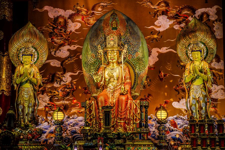 Temple Bouddhiste à Singapour.
