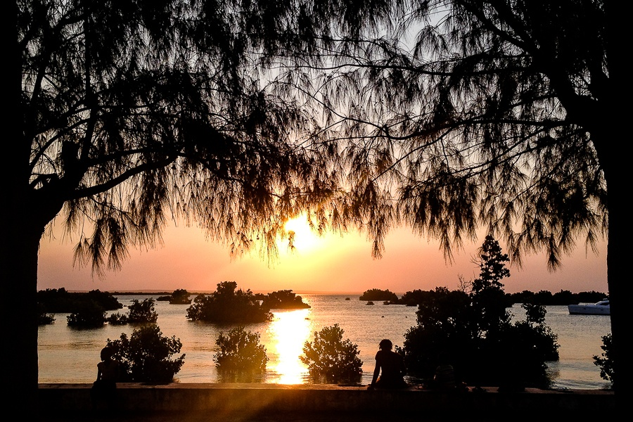 Coucher de soleil à Ibo, archipel des Quirimbas, Mozambique.