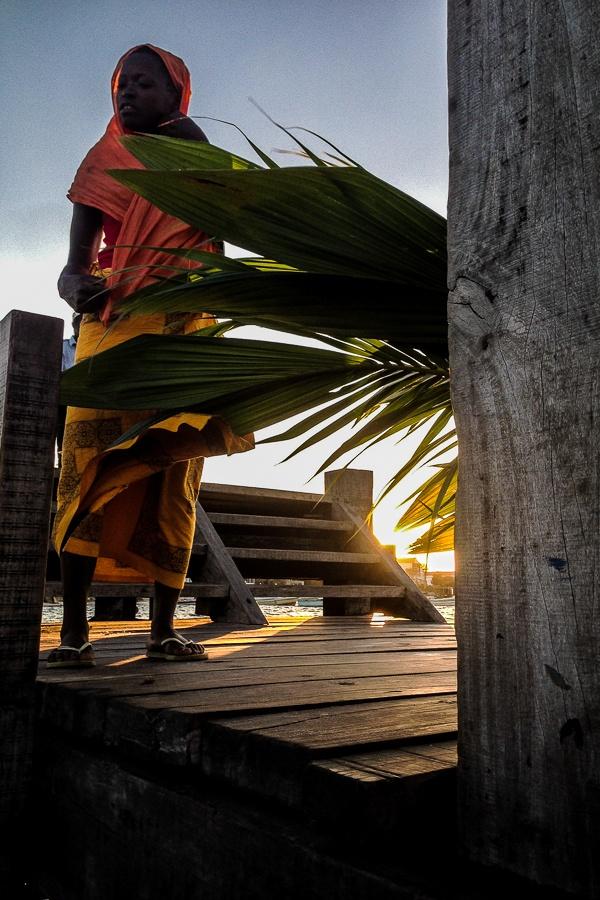 Sur le ponton d'Ibo, archipel des Quirimbas, Mozambique.