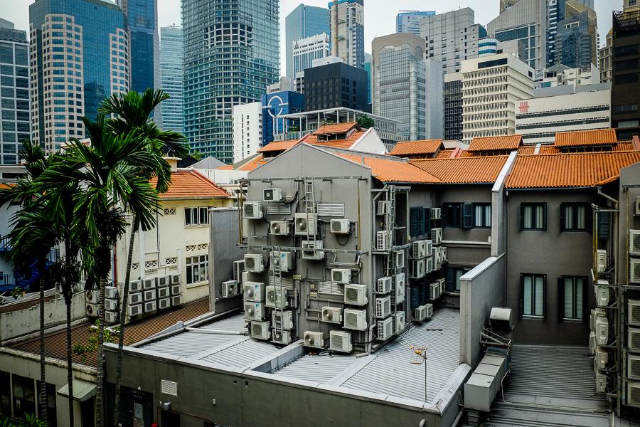 L'arrière des rues de Singapour.