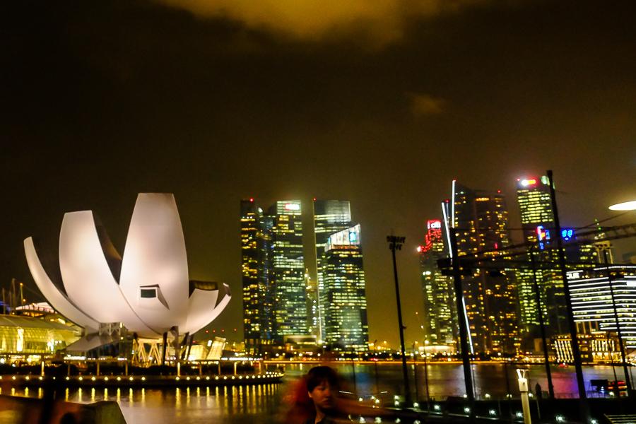 Lumières de Singapour de nuit.