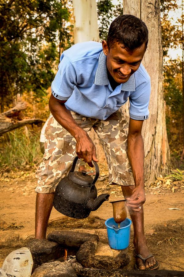 Vendeur de chai au Sri Lanka.