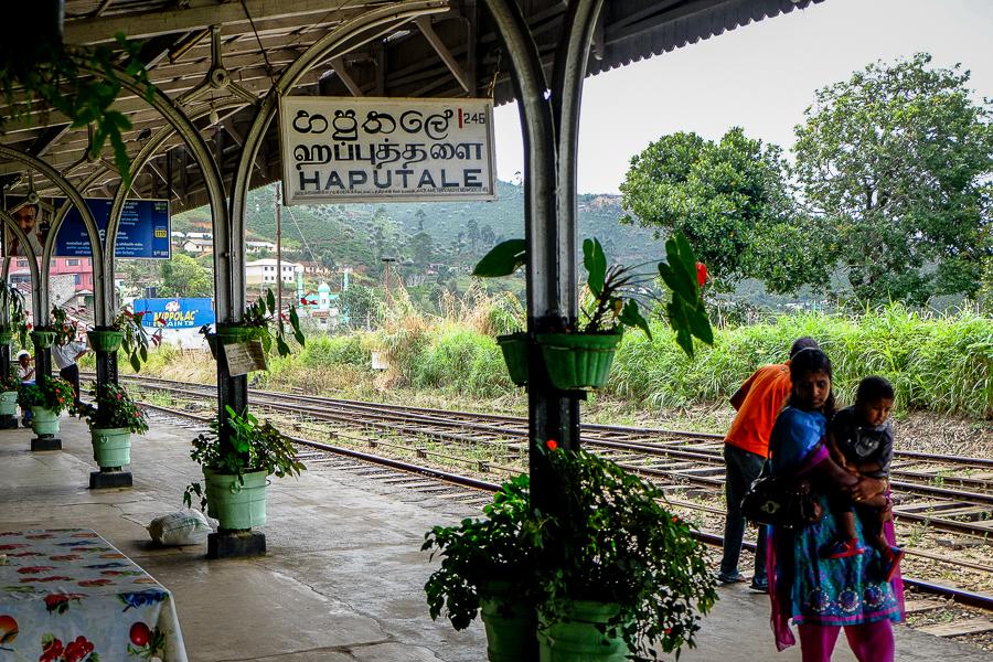 Gare d'Haputale au Sri Lanka.