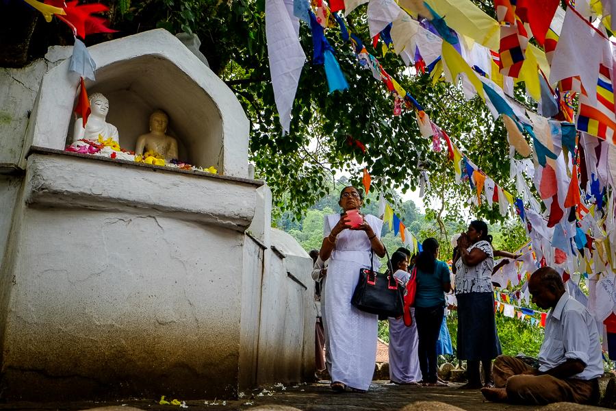 Procession au temple de la dent à Kandy au Sri Lanka.