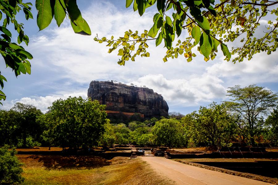 Le rocher de Sigiriya au Sri Lanka.