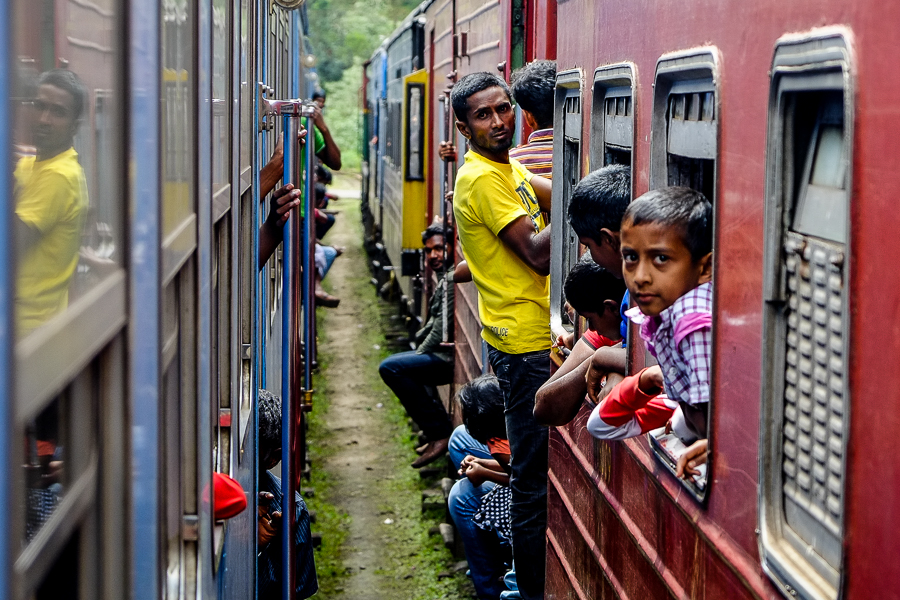 Voyage en train au Sri Lanka.