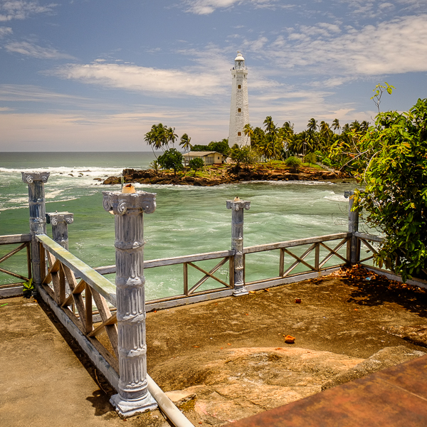 Phare près de Trincomalee au Sri Lanka.