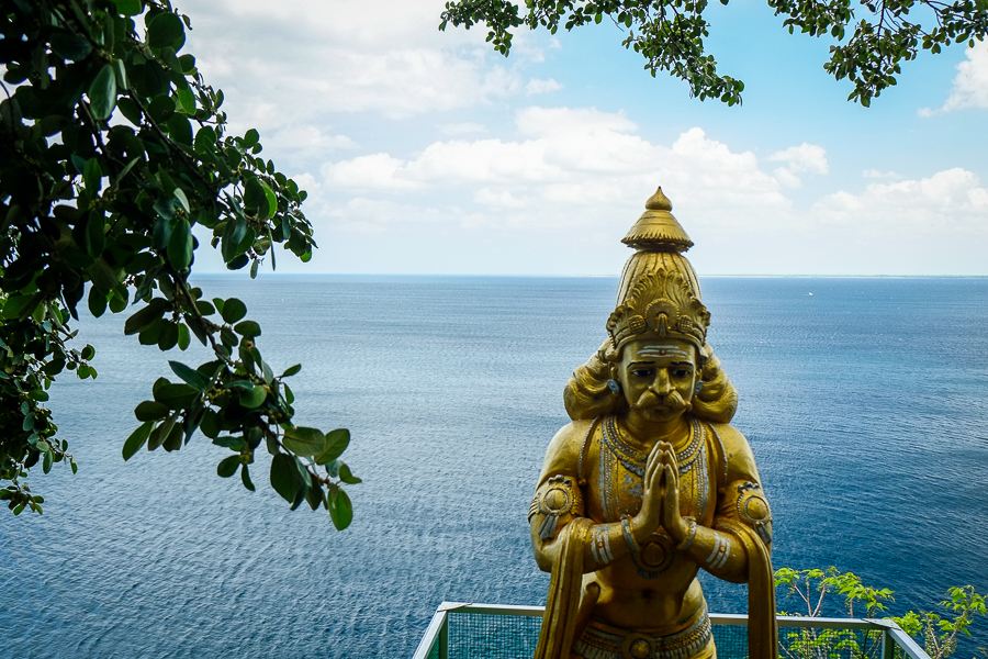 Statue hindoue à Trincomalee au Sri Lanka.