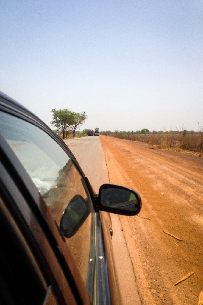 Sur la piste au Togo.