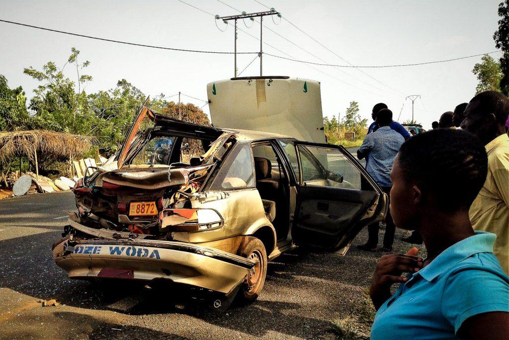 Accident de taxi-brousse au Togo.