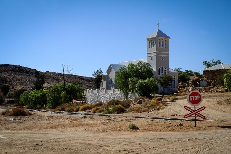 L'église du village d'Aus en Namibie.
