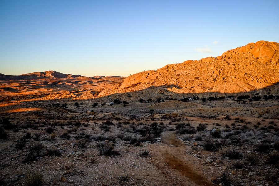 La vallée du Klein Aus Vista camping en Namibie.