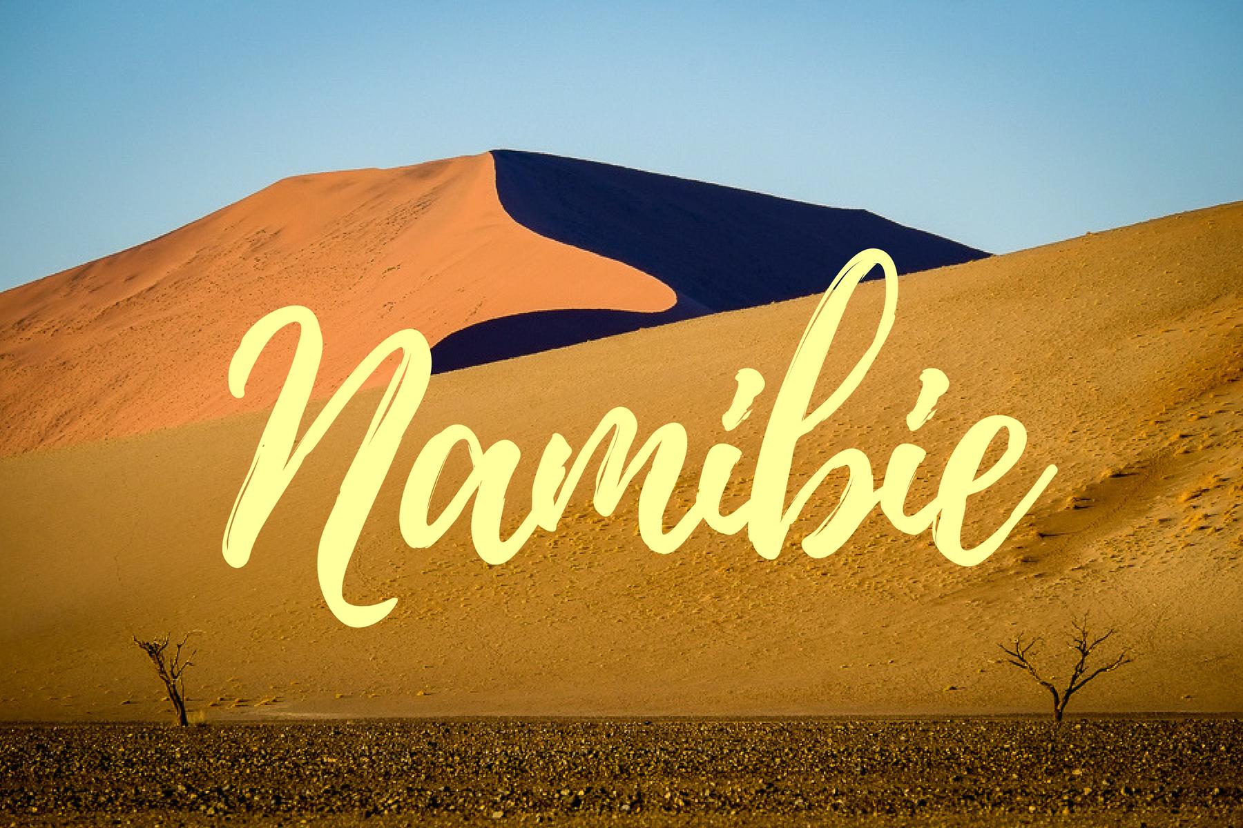 Page d'accueil des articles sur la Namibie.